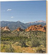 Garden Of The Gods And Pikes Peak - Colorado Springs Wood Print