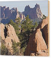 Garden Of The Gods And Red Rocks Open Space Wood Print