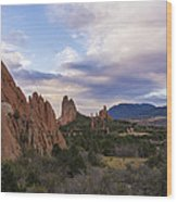 Garden Of The Gods At Sunrise - Colorado Springs Wood Print