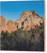 Garden Of The Gods Formation Wood Print