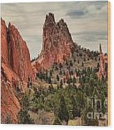 Garden Of The Gods Jagged Peaks Wood Print