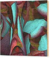 Garden Of Trees Wood Print