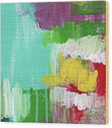Garden Path- Abstract Expressionist Art Wood Print