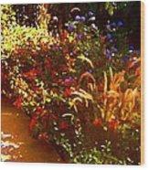 Garden Pathway Wood Print