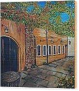 Garden Patio Wood Print