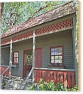 Garden Porch At Calloway Gardens Wood Print