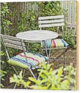 Garden Seating Area Wood Print