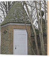 27f79c692c2 Garden Shed Colonial Williamsburg Wood Print by Teresa Mucha
