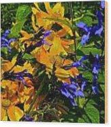 Garden Splash Wood Print
