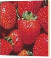 Garden Strawberries Wood Print