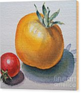 Garden Tomatoes Wood Print