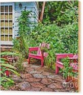 Garden Treasures At Aunt Eden's By Diana Sainz Wood Print