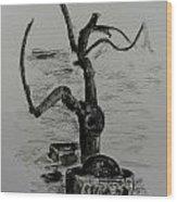 Garden Tree Wood Print
