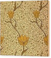 Garden Tulip Wallpaper Design Wood Print by William Morris