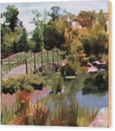 Japanese Gardens - Garden View Series 05 Wood Print