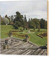 Garden View - Powerscourt Garden Wood Print