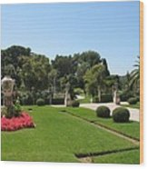Garden Villa Ephrussi Wood Print