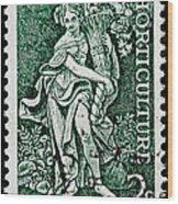 Gardening And Horticulture Vintage Postage Stamp Print Wood Print