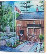 Gardening Shed Wood Print by Scott Nelson