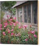 Gardens Of Pink Wood Print