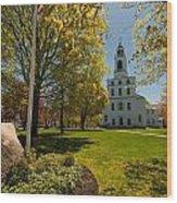 Gardens Of The First Parish Wood Print