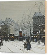 Gare Du Nord Paris Wood Print