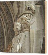 Gargoyle And The Lamb Wood Print