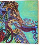 Gargoyle Lion 3 Wood Print