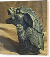 Gargoyle Or Grotesque Profile Wood Print