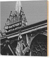 Gargoyles King's College Chapel Tower Wood Print