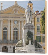 Garibaldi Monument In Nice France Wood Print