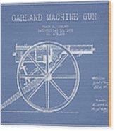 Garland Machine Gun Patent Drawing From 1892 - Light Blue Wood Print