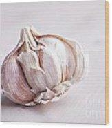 Garlic Bulb Wood Print