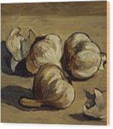 Garlic Wood Print by Deborah Allison