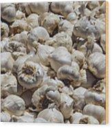 Garlic Harvest Wood Print