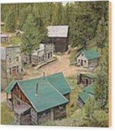 Garnet In Montana Wood Print