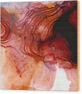 Garnet Sea - Abstract Art By Sharon Cummings Wood Print