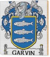 Garvin Coat Of Arms Irish Wood Print