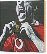Gary Neville - Manchester United Fc Wood Print