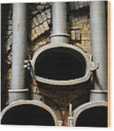 Gas Distilation Wood Print