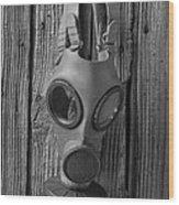 Gas Mask Wood Print