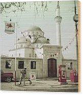 Gas Station In Turkey Wood Print
