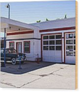 Gas Station Museum Wood Print