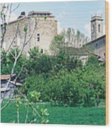 Gascony Village Wood Print