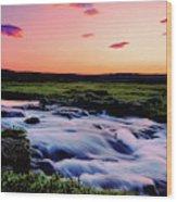 Gaski Waterfall, Grafarlandaa River Wood Print