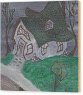 Gaslight Whimsy Wood Print by Robert Meszaros