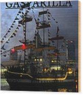 Gasparilla Ship Print Work B Wood Print