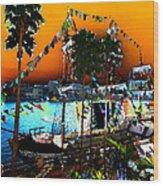 Gasparilla Sunset Wood Print by David Lee Thompson