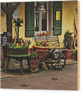 Gast Haus Display In Rothenburg Germany Wood Print by Greg Matchick