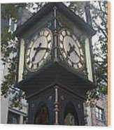Gastown Steam Clock Wood Print